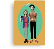 Hipster Valentine Canvas Print