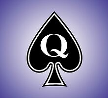 Smartphone Case - Queen of Spades - Purple by Mark Podger