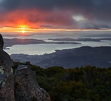 Sunrise from Mount Wellington #12 by Chris Cobern
