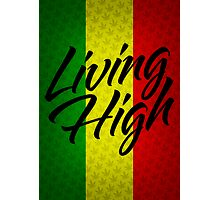 Living High Typography (Dark) Photographic Print