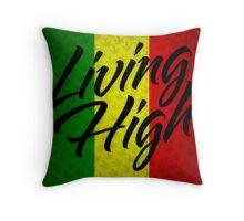 Living High Typography (Dark) Throw Pillow