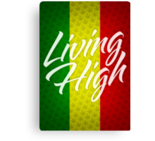 Living High Typography (Light) Canvas Print