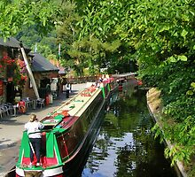Llangollen Canal Wharf by lezvee