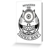 Monsters INK Mike Greeting Card