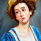 La Belle en Bleu after Gustave Jean Jacquet  by Hidemi Tada