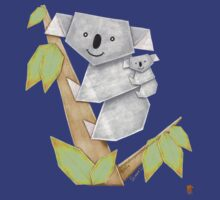 Cuddly Koala with cute Baby Origami by JumpingKangaroo