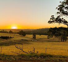 Sundown at the Peninsula, Bridgetown, Western Australia by Elaine Teague