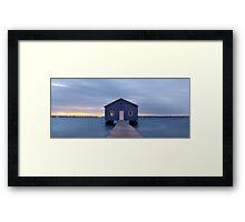Crawley Boatshed at dawn Framed Print