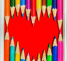 Heart Shape Pencils by MMPhotographyUK