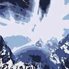 Alien Antarctic Moonscape by RocketmanTees