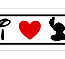 I Heart Stitch (Classic Logo) Sticker