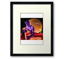 Space Love Framed Print