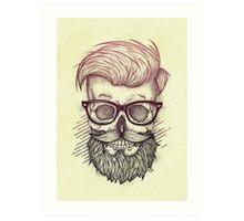 Hipster is Dead Art Print