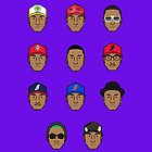 Faces of Pharrell by NIQQ