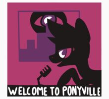 Welcome To Ponyville (design no. 2) by gypsypony