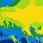 Abstract Fractal Ocean by RocketmanTees