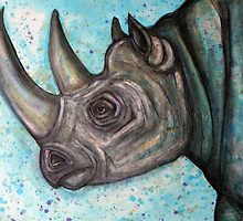 Extinction 2011: Western Black Rhino by Lynnette Shelley