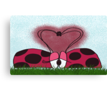Ladybug's First Encounter Canvas Print