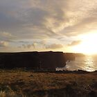 Sundown on the Cliffs of Moher by neon-gobi