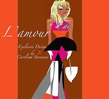 L'Amour, Exclusive design by Artist Carolina Sherwani by Carolina Sherwani