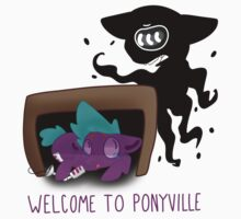 Welcome To Ponyville (design no. 3) by gypsypony