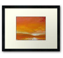 Remembering Sunset Framed Print