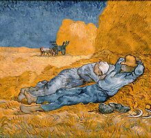 Noon – Rest from Work by Vincent Van Gogh by TilenHrovatic