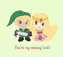 Link & Zelda Valentines: Missing Link by Alice Edwards