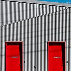 Red doors by Colleen Milburn