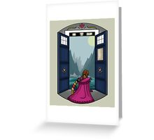 The view from here is pretty. Greeting Card