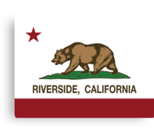 Riverside California Republic Flag Canvas Print