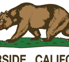 Riverside California Republic Flag Sticker