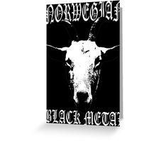 Norwegian Black Metal Greeting Card