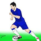 Eden Hazard Chelsea drawing by TDCartoonArt