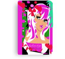 Candy Pink, An Exclusive design by Carolina Sherwani Canvas Print