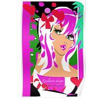 Candy Pink, An Exclusive design by Carolina Sherwani Poster