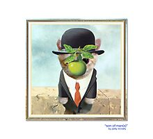"""CATS IN HATS """"Son of Man(x)"""" Photographic Print"""