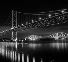 Forth Road and Rail Bridges by Pat Millar