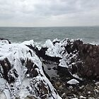 Kennebunkport Ice - Spouting Rock by MaryinMaine