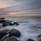 rocks on the beach by JorunnSjofn Gudlaugsdottir