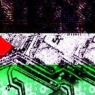 circuit board gaza strip (flag) by sebmcnulty