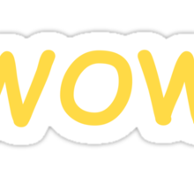Dogecoin WOW! Gold Text Sticker