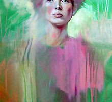Portrait in Pink and Green by tiffanydow