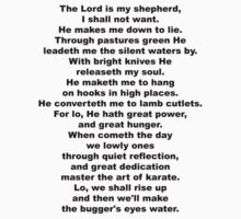The Sheep's Prayer (black) by GentryRacing