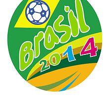 Brasil 2014 Soccer Football Ball Oval by patrimonio