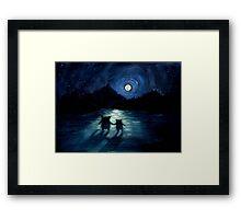 Moonlight Monsters Framed Print