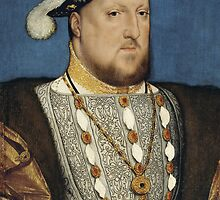 Portrait of Henry VIII of England by Hans Holbein by TilenHrovatic