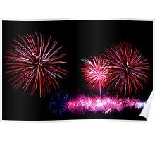 Australia Day Fireworks - Melbourne 2014 Poster