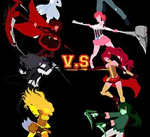 RWBY VS JNPR by tofudelight
