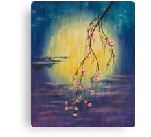 Full moon sakura Canvas Print